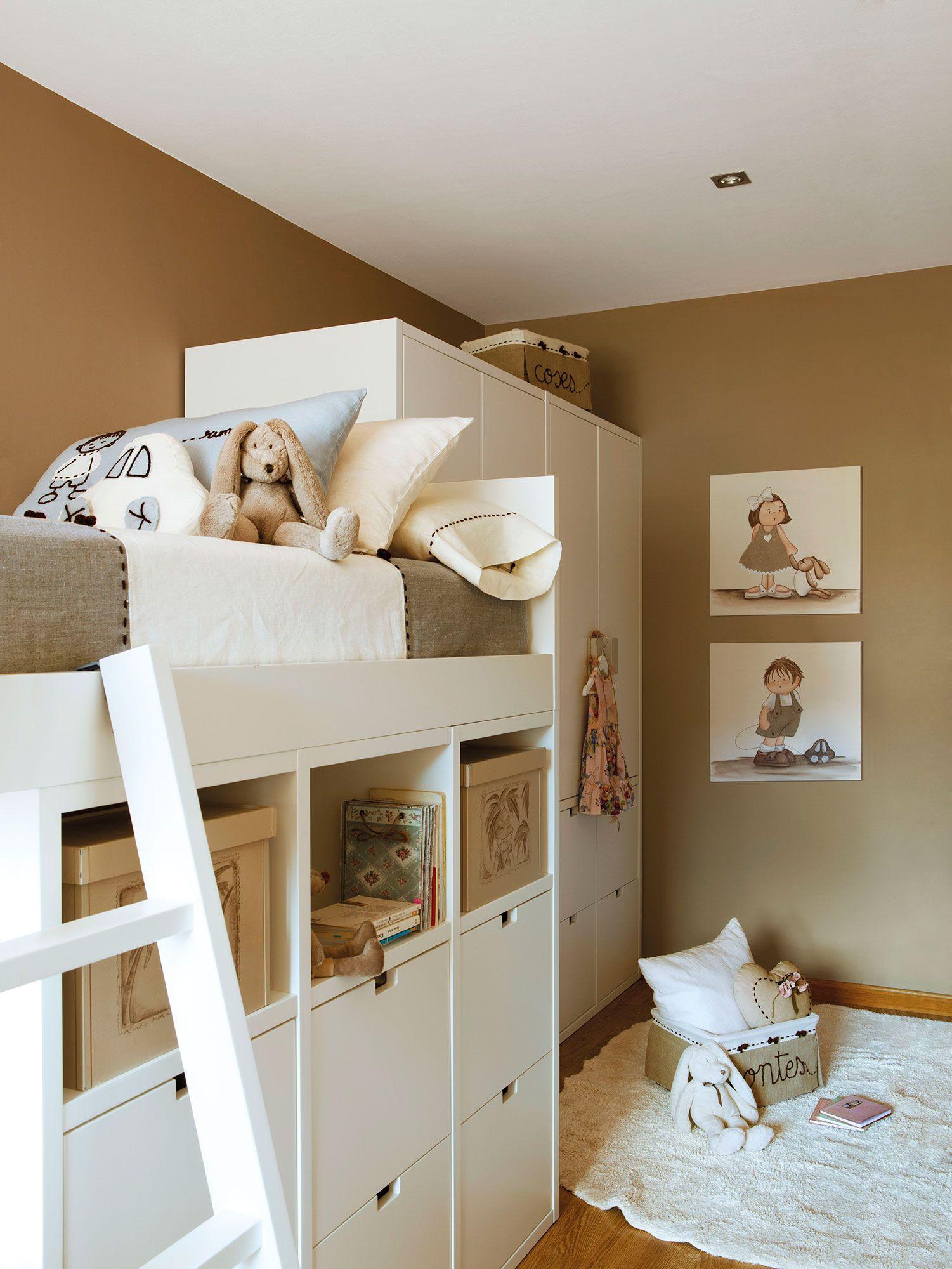 Habitaciones infantiles con ideas que estiran los metros - Paredes habitaciones infantiles ...