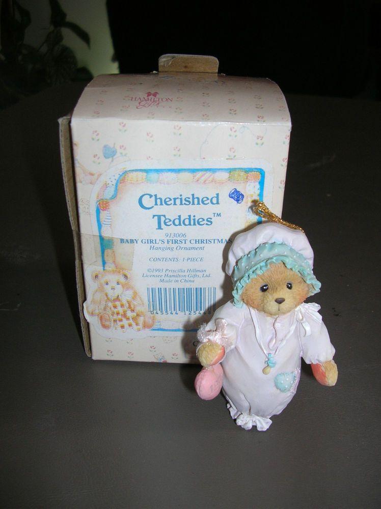 Cherished Teddies Babys First Christmas 913014