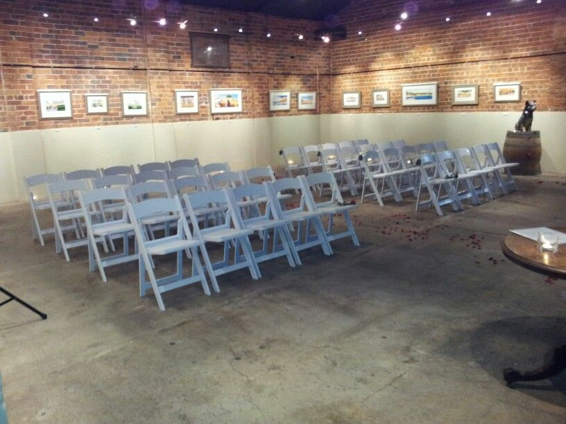 cellar room wedding ceremony at houghtons winery in the