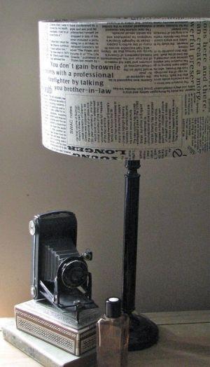 Newspaper Lampshade Lampe Diy Lampen Dekotipps