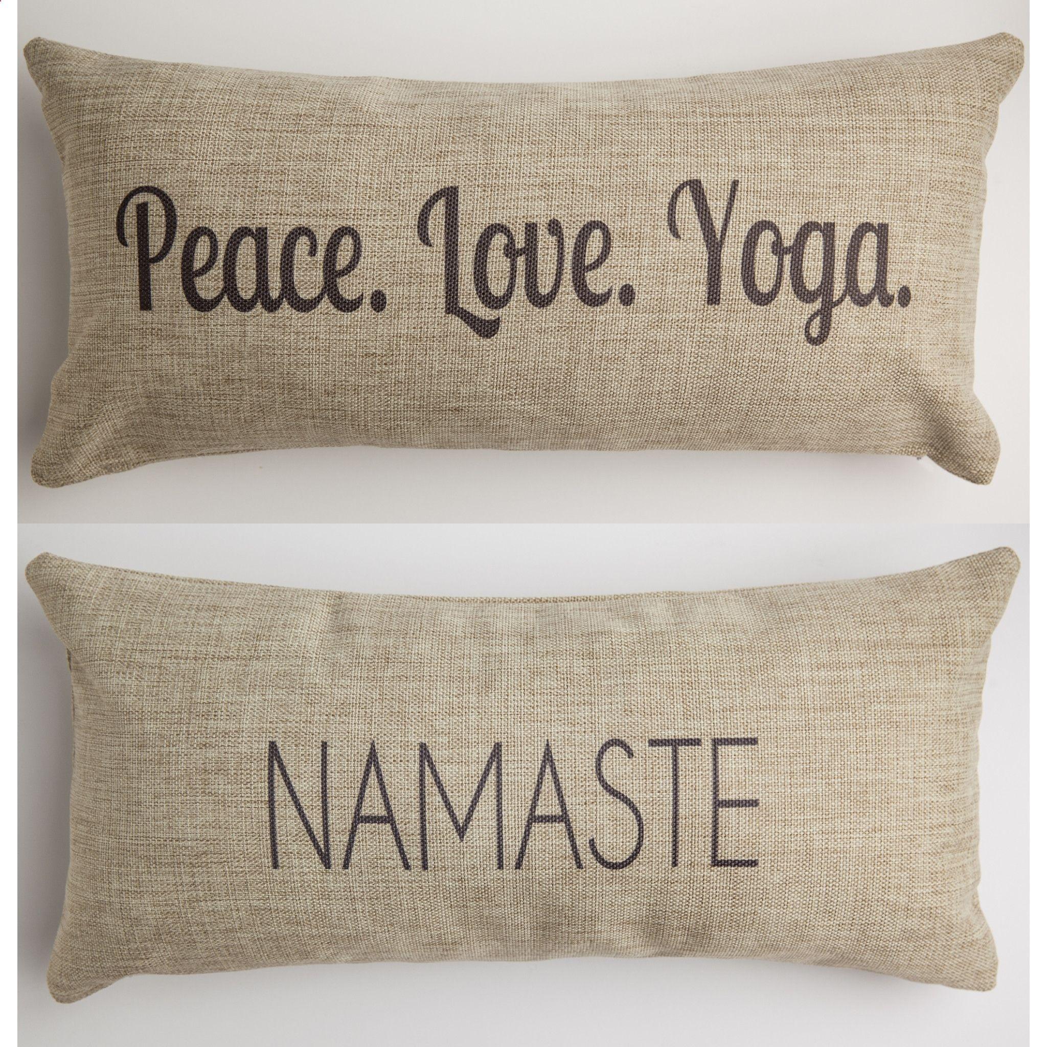 Yoganamaste pillow yoga gifts yoga décor yoga ideas