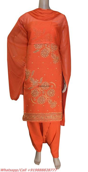 Hand Embroidery Suits Code-JSHS1189  To buy http://bit.ly/1LapuVQ