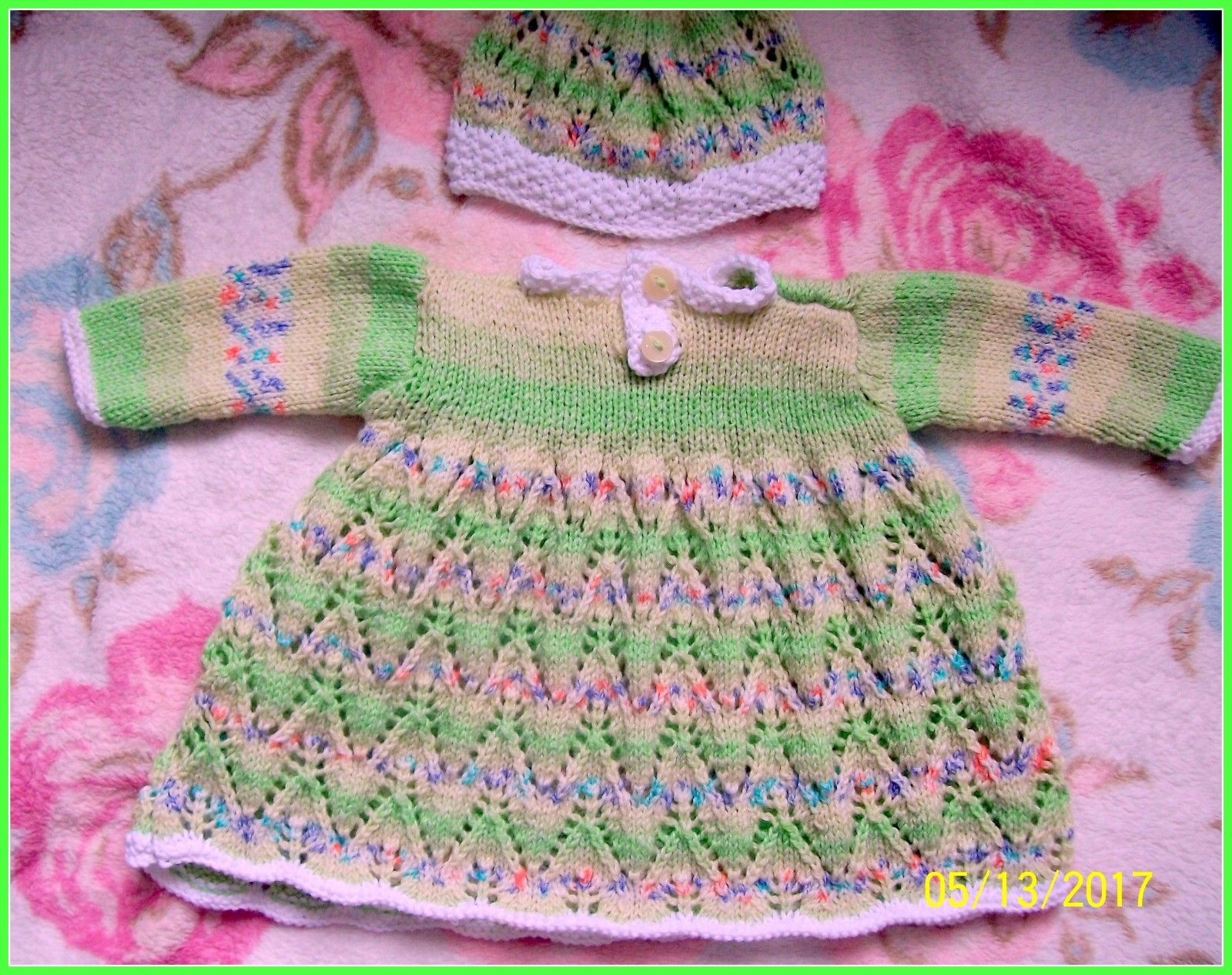 7ab63bb204f98 Newborn Baby Girls Hand Knitted Outfit Reborn Dolls Clothes 0-3 mth BABY  SOFT