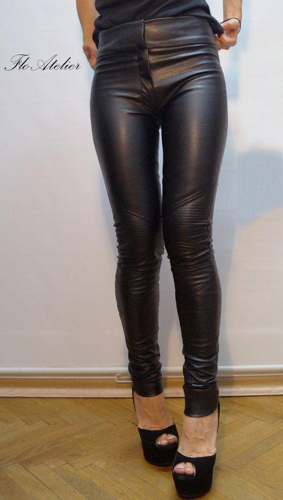 e53e562f0553f Vegan Leather Pants/Stretchy Pants/Leggings/Skinny Pants/Black Vegan ...