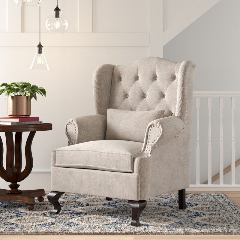 Shanley Wingback Chair Chair Traditional Accent Chair Chair Fabric