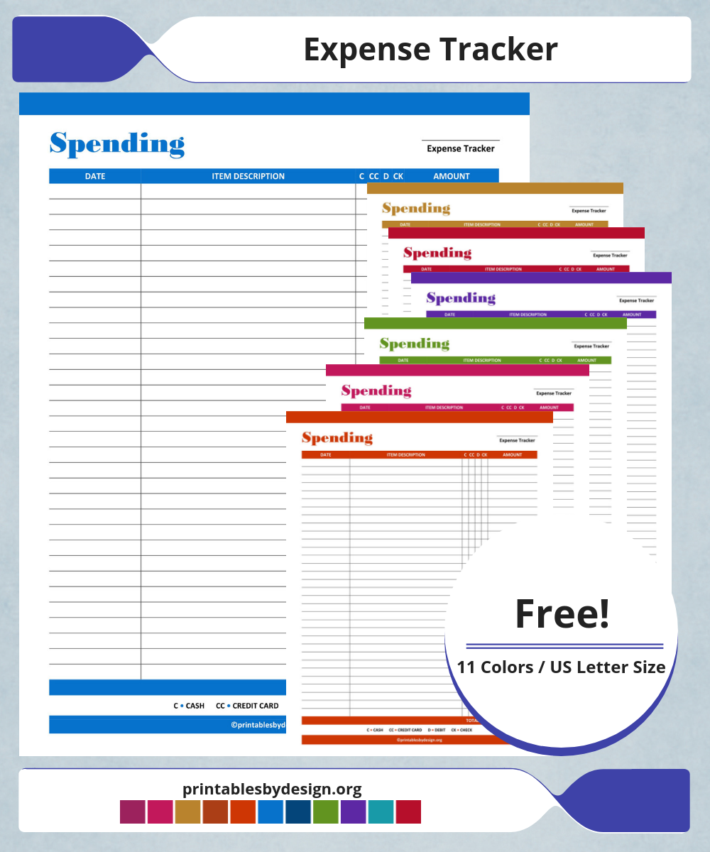 keep track of your spending with this simple expense tracker it
