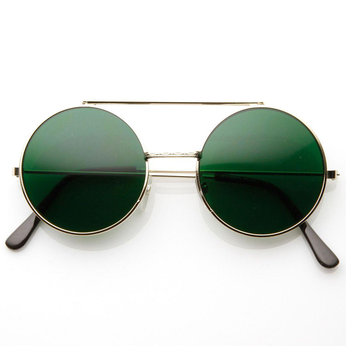 Ray ban sunglasses circle - Limited Edition Color Flip Up Lens Round Circle Django Sunglasses