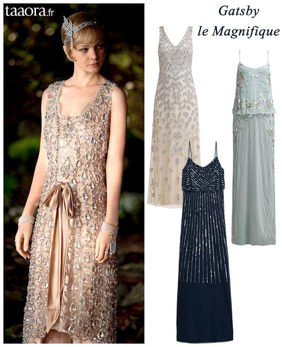 Robe de soirée années 20 Gatsby Le Magnifique
