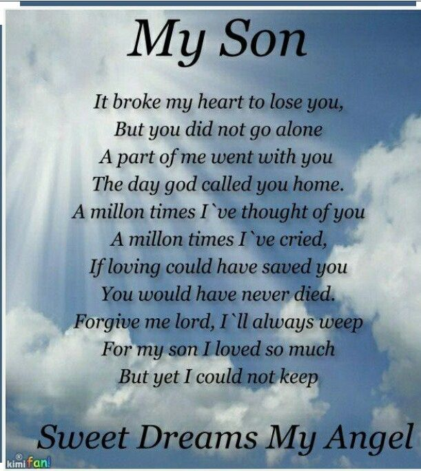 Happy 40th Birthday In Heaven Quotes: Missing My Son So Very Much.