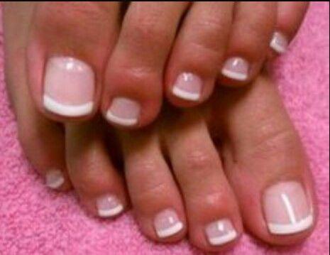 Shellac French Pedi French Toe Nails Cute Toe Nails Summer Toe Nails