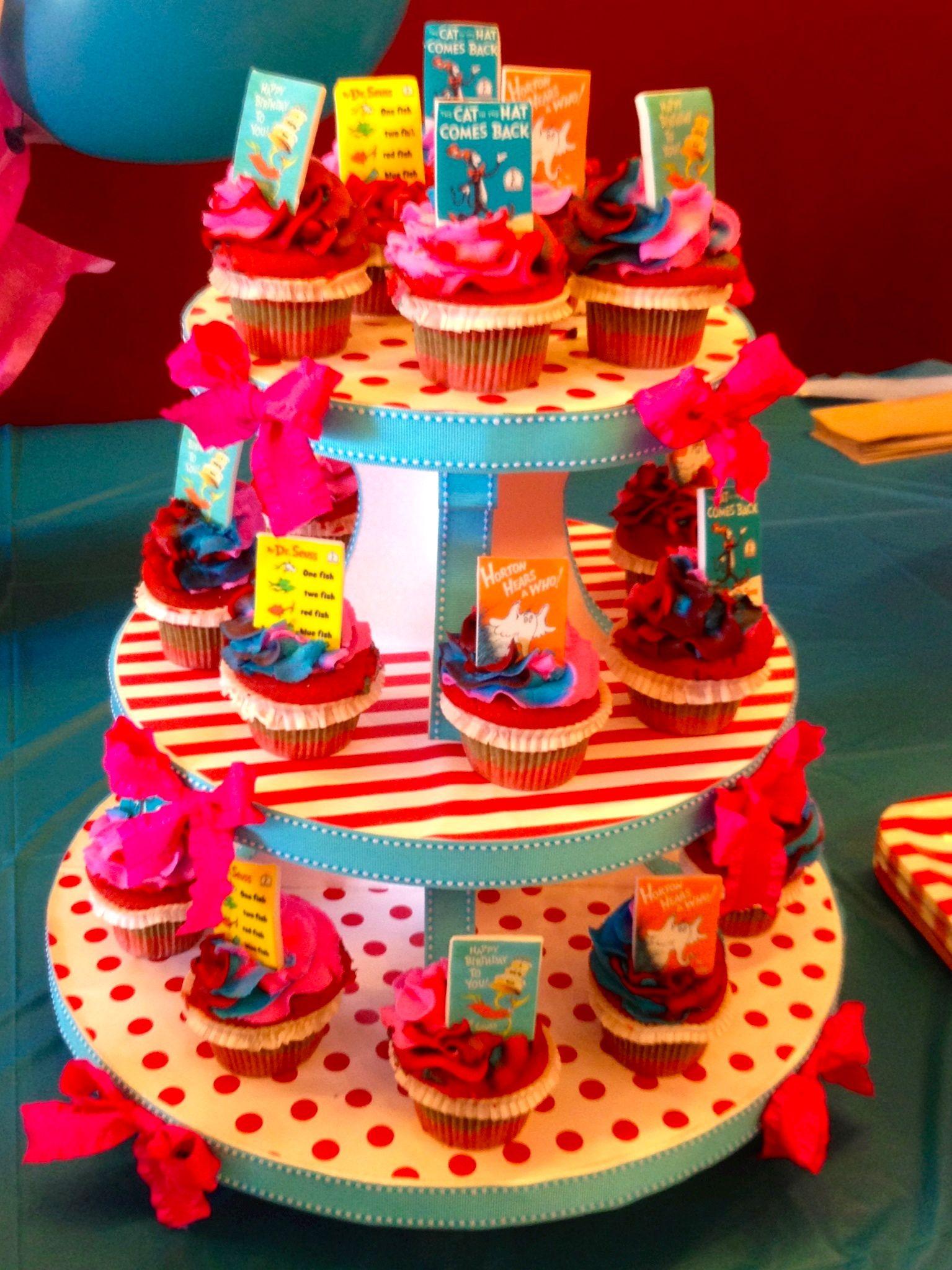 Diy Styrofoam Cupcake Stand Seussical Party Pinterest Cupcake
