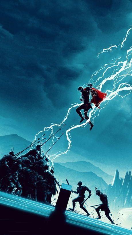 Thor Ragnarok poster by Matt Ferguson. (Text-less Blue Edition)