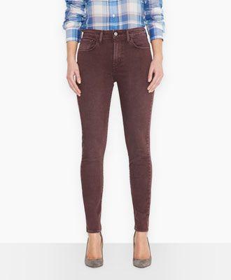 Levi's Super Stretch High Rise Skinny Jeans - Chalky Grape - Skinny