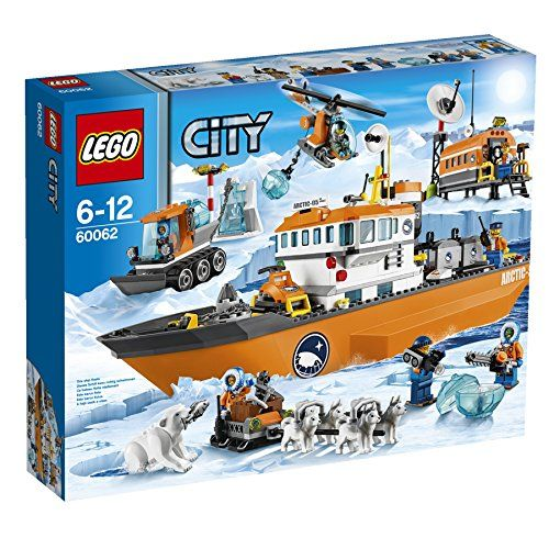 Lego City Ice Breaker Ship Includes 7 Minifigures With Accessories 4 Explorers Captain Pilot And A Scientist Build It On You Lego City Lego City Sets Lego