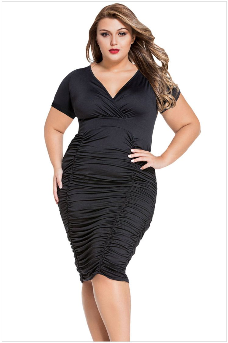 Click To Buy Hot Sale Sexy Plus Size Dresses Sheath Jurk Sexy