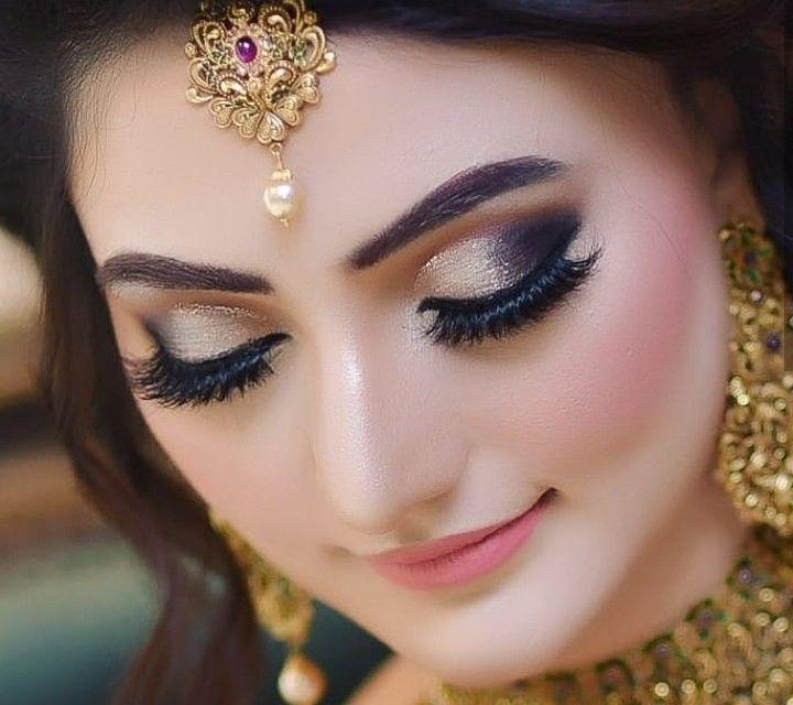 Party makeup | Pakistani bridal makeup, Pakistani bridal makeup hairstyles, Bridal makeup