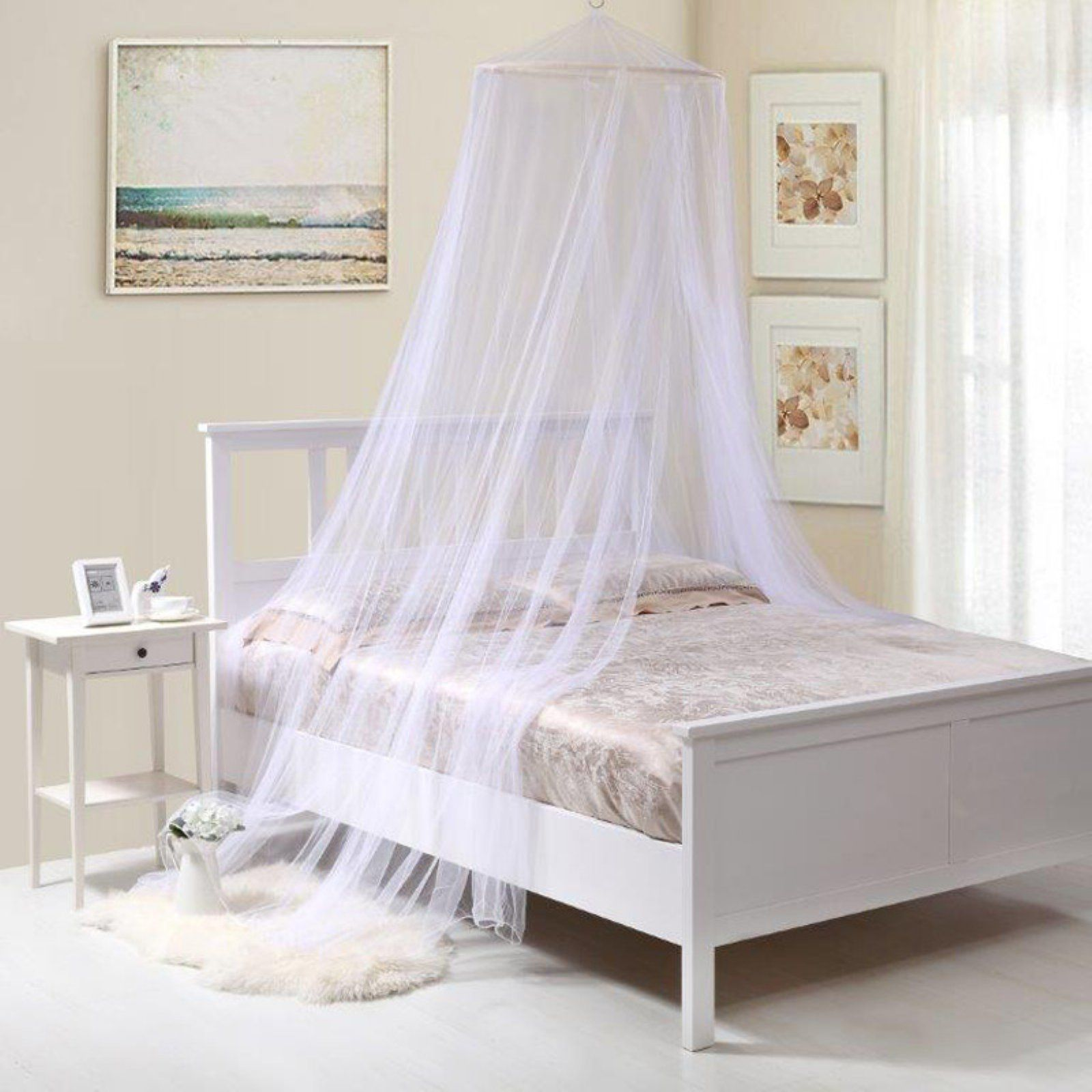 Oasis Round Bed Canopy White Canopy Bedroom Home Decor Canopy