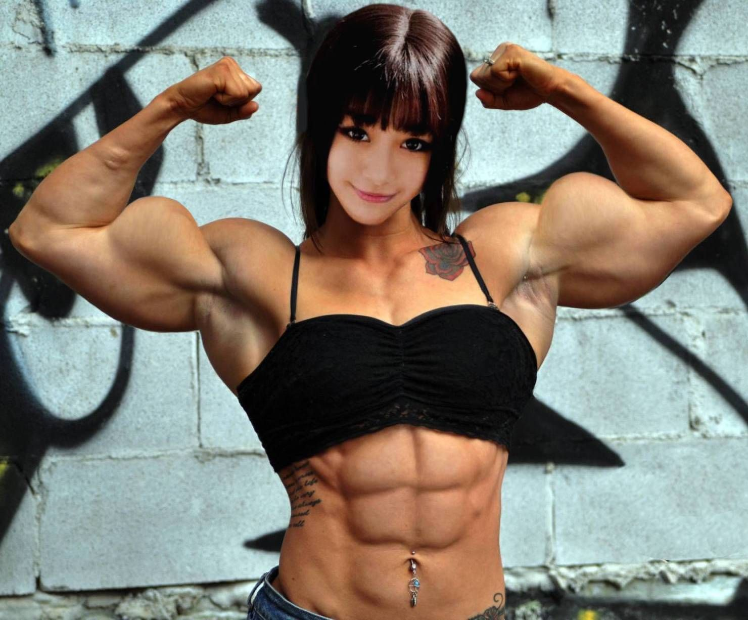 Asian female muscle porn star images
