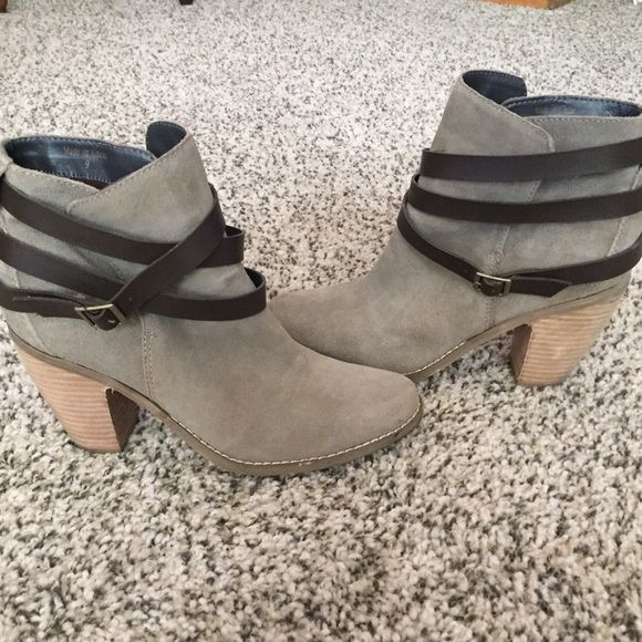 Dolce Vita ankle boots These have been worn a handful of times but are still in really good condition.  They are a taupe-grey suede. True to size. Dolce Vita boots are amazing, I have about five pairs!! I do not have original box but these were purchased from a Nordstrom. Dolce Vita Shoes