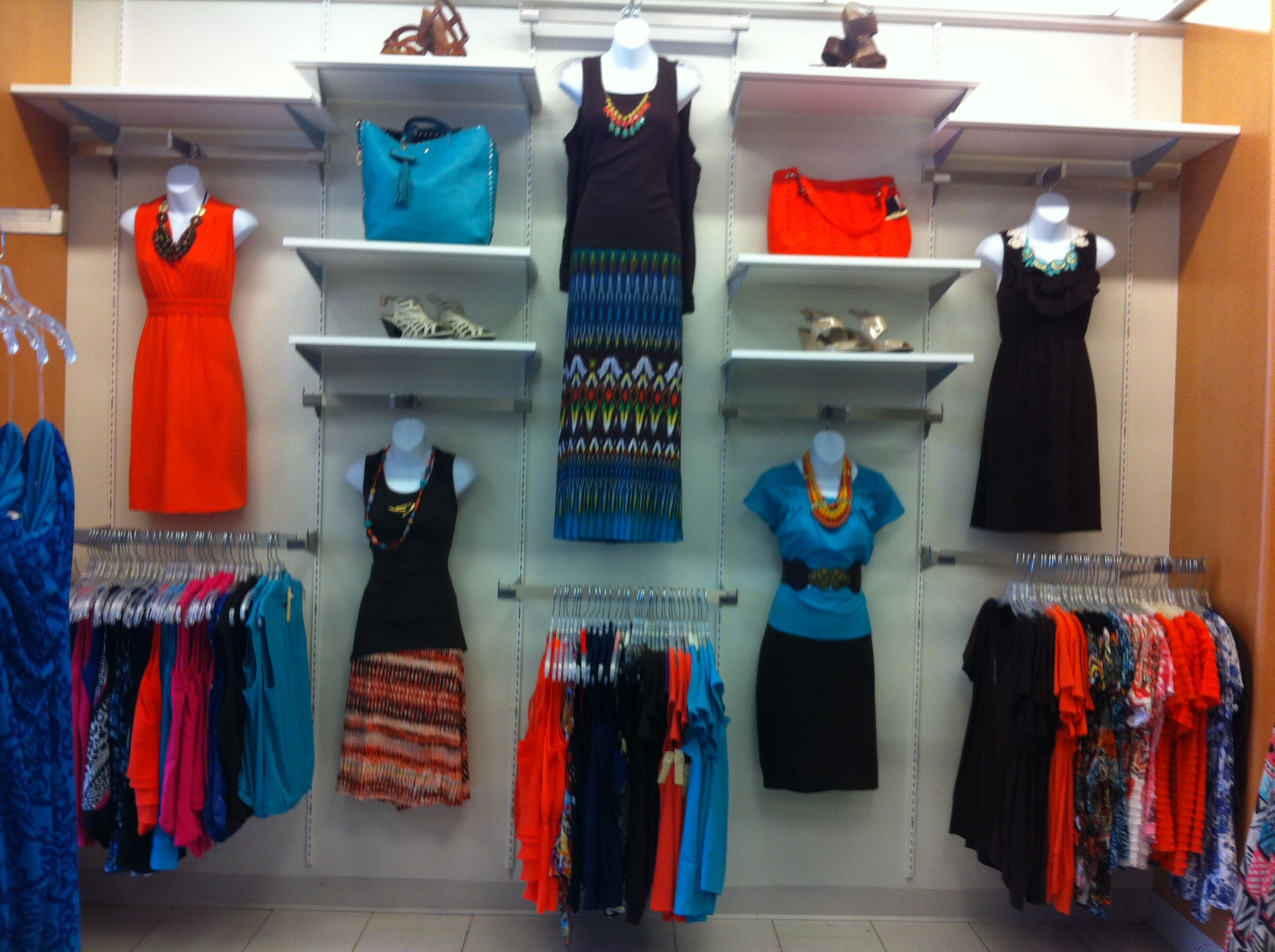 Tribal trend beautiful colors new planogram for Boutique wall displays