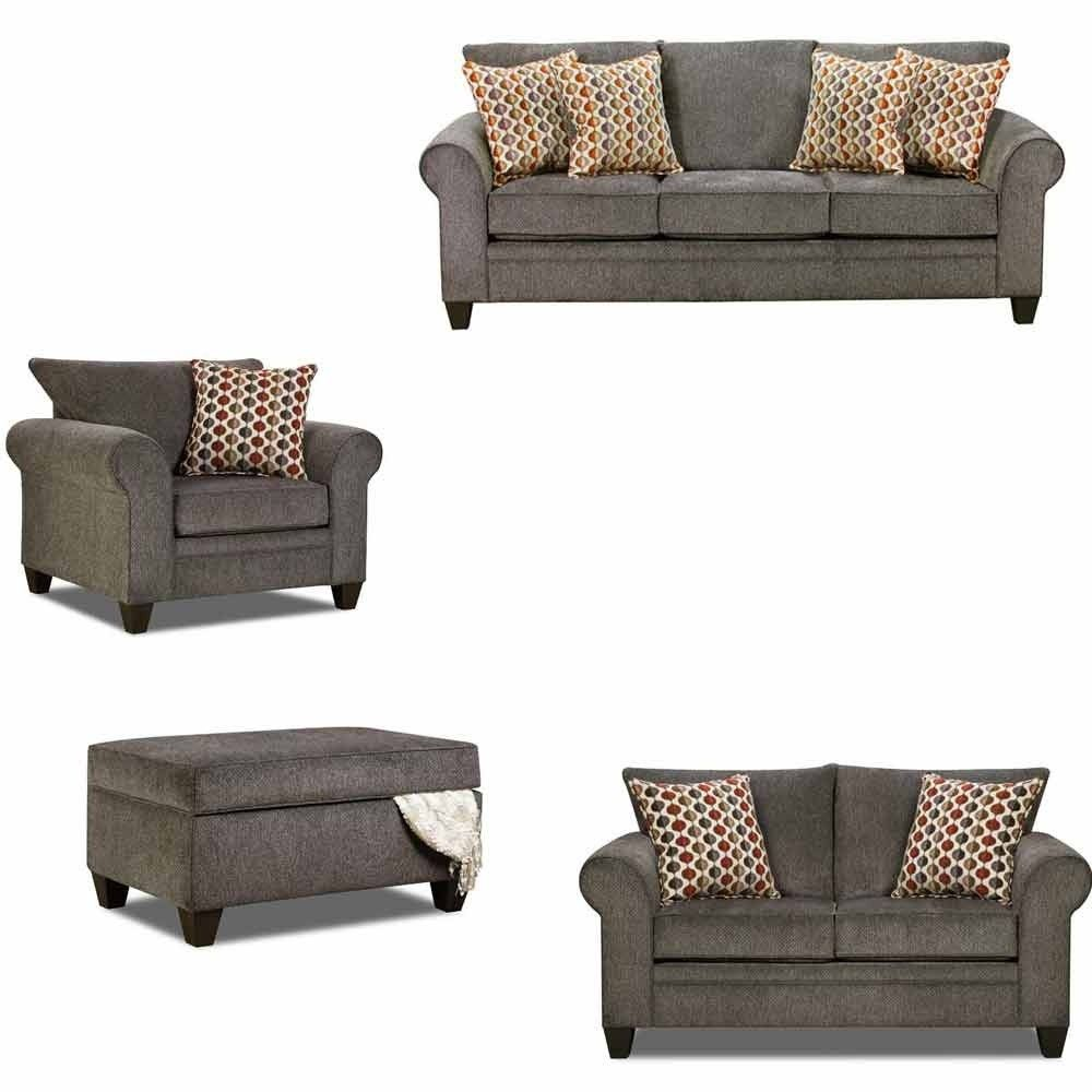 Simmons Upholstery - Albany 4 Piece Living Room Set - 1647-03-02-01 ...