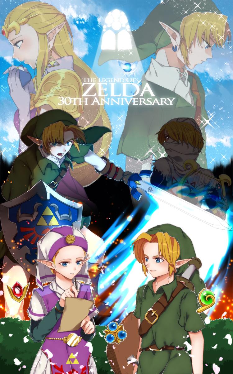 The Legend of Zelda | Anniversary of 30 years | Art by 蒼井春樹 (@ao_haruki)