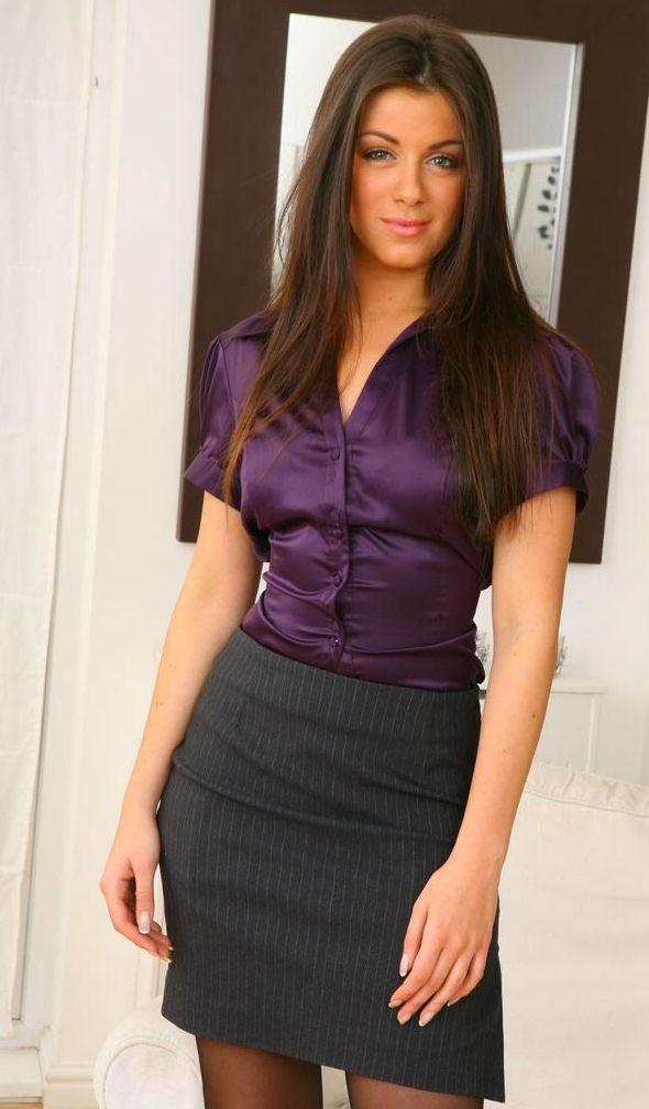 Office Secretaries Women in Business Attire Office Dresses | Work ...