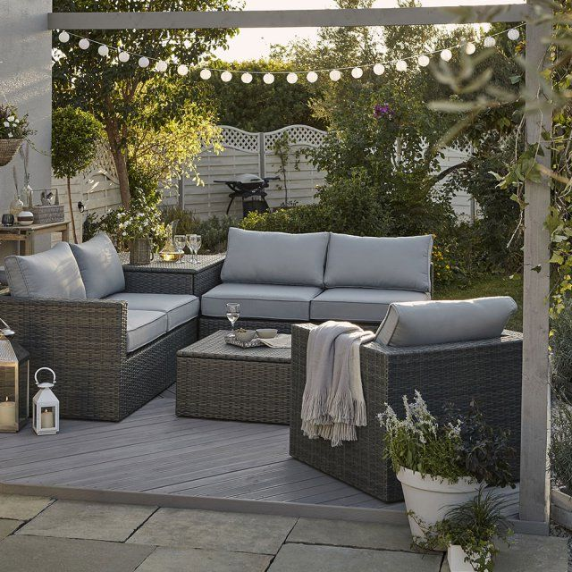 salon de jardin sulana 2 rev tement effet rotin tress. Black Bedroom Furniture Sets. Home Design Ideas