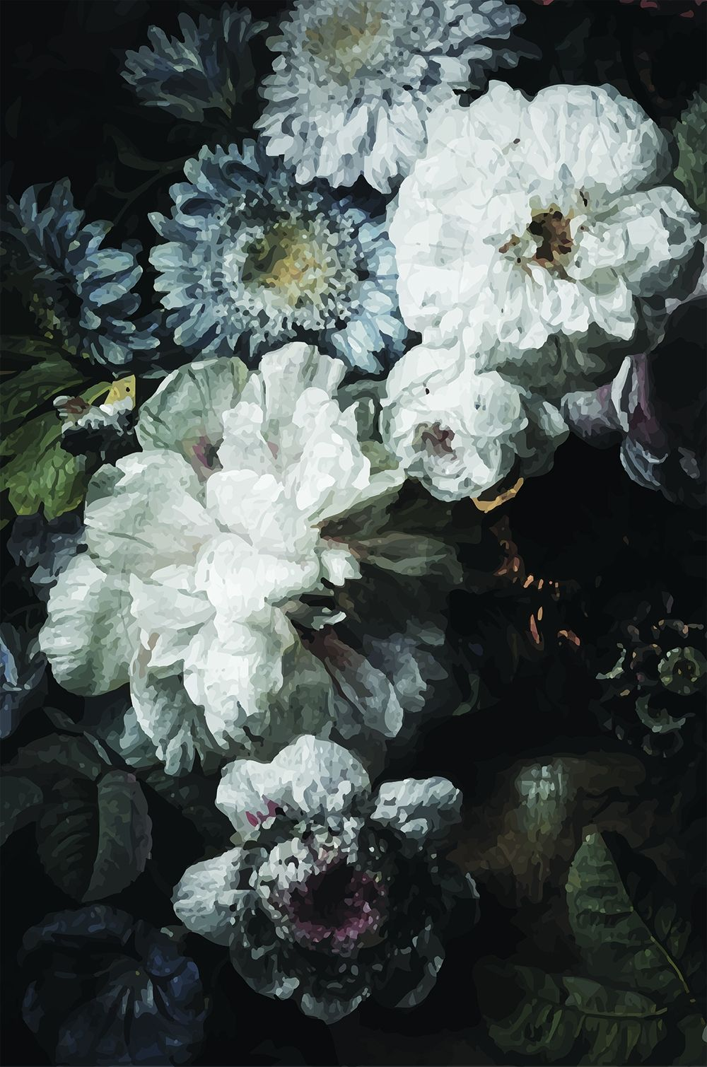 Dark Floral Wallpaper Vintage Floral Wallpapers Dark Flowers