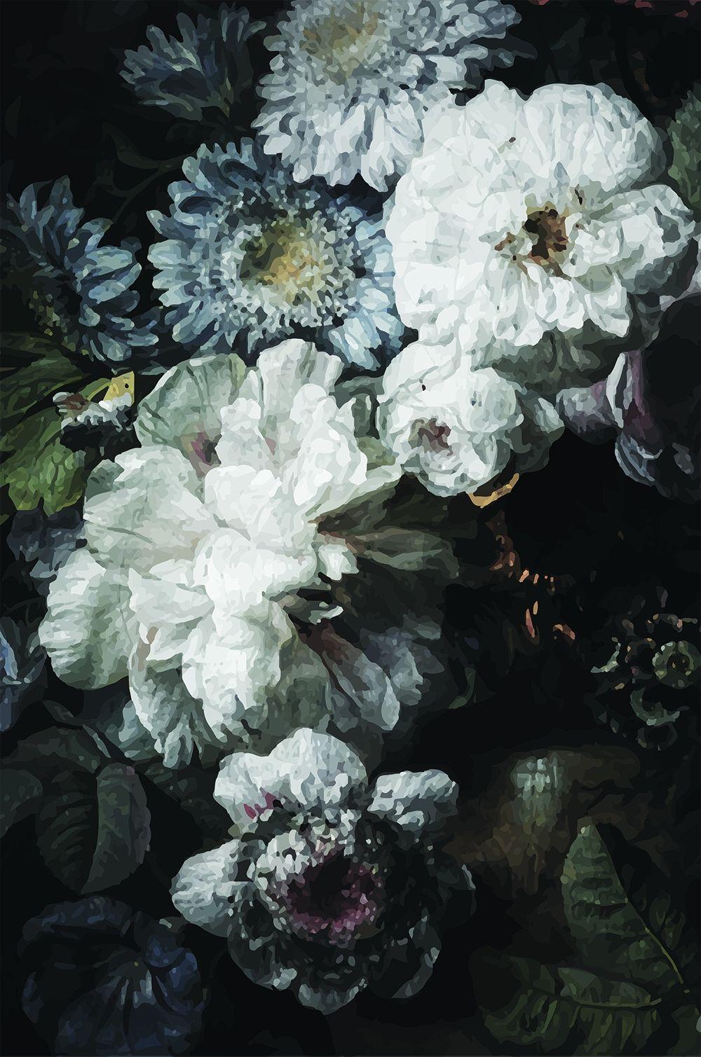 Dark Floral Wallpaper In 2020 Vintage Floral Wallpapers Floral