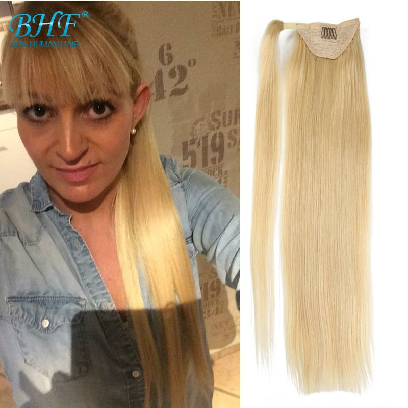 7a Human Hair Ponytail Hairpieces Brazilian Virgin Human Hair
