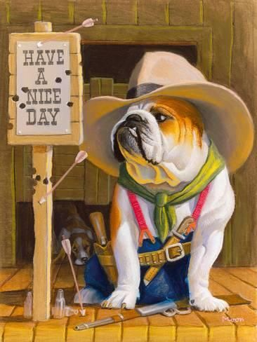 Giclee Print Have A Nice Day Art Print By Bryan Moon By Bryan