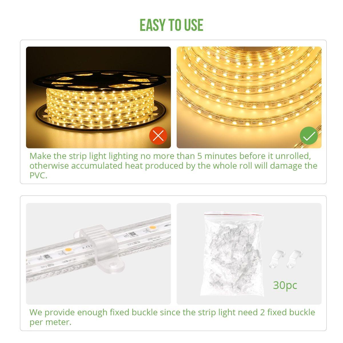 Le 49ft Led Strip Lights 120 Volt 70w 900 Smd 3528 Leds Waterproof Flexible Warm White Etl Listed Led Strip Lighting Strip Lighting Waterproof Led Lights