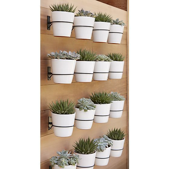 Wall Planter Hook | Crate and Barrel - Stacked Rock Planters Crates, Barrels And Planters