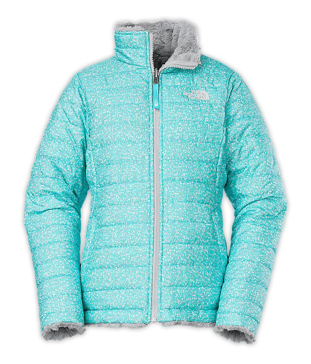 cb8e5c9f1 The North Face girls jackets, hoodies and vests let her discover nature's  playground. GIRLS' REVERSIBLE MOSSBUD SWIRL JACKET | United States