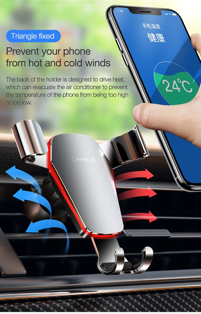 Cafele Metal Gravity Linkage Automatic Lock Air Vent 360º