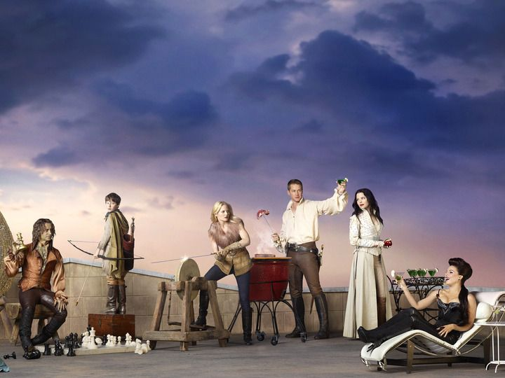 Once Upon a Time (TV show) Meghan Ory, Emilie de Ravin, Robert Carlyle, Jared S. Gilmore, Jennifer Morrison, Josh Dallas, Ginnifer Goodwin a...
