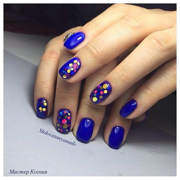 Nail Art #3223 - Best Nail Art Designs Gallery   Blue glitter nails ...