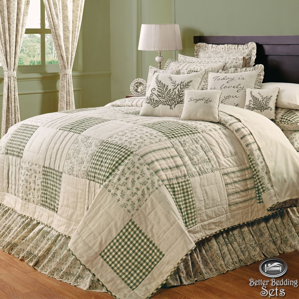 Cal King Quilted Bedding Patchwork Twin Queen Cal King Quilt Bedding Bed Set Accesso Country Bedding Sets King Quilt Bedding Quilt Sets Bedding