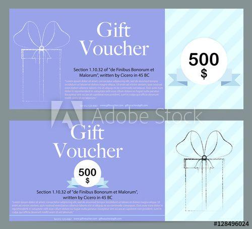 Gift Voucher Template Background Illustrations vector Pinterest - payment voucher template