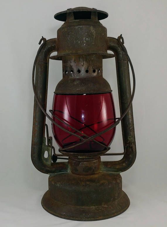 Oil Lamp Antique Railway Red Signal Lamp Hurricane Oil Lamp Etsy Oil Lamps Antique Oil Lamps Hurricane Oil Lamps