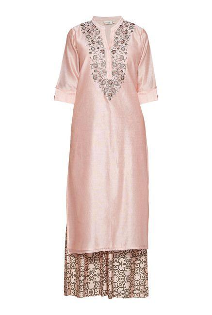 1c91144cbd Vark by Westside Peach Embroidered Suit Set | Exclusivity | Dresses ...