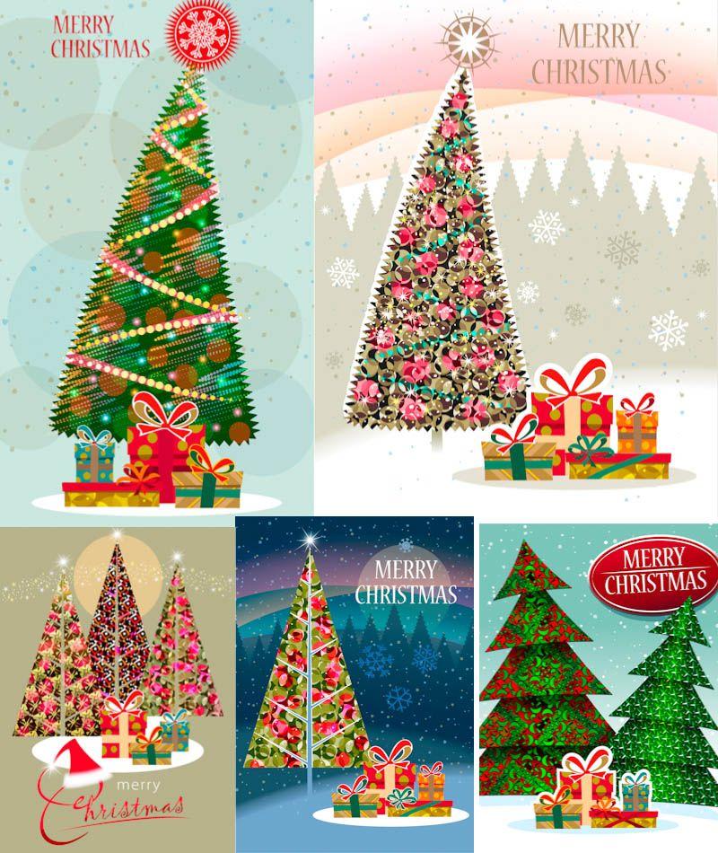 Slanted Christmas Tree Vector Christmas Christmas Crafts Christmas Vectors