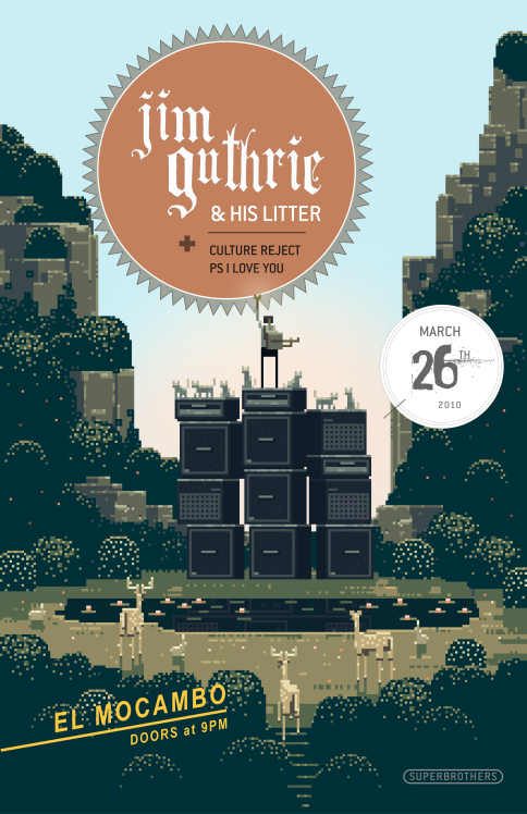 Jim Guthrie poster circa 2010
