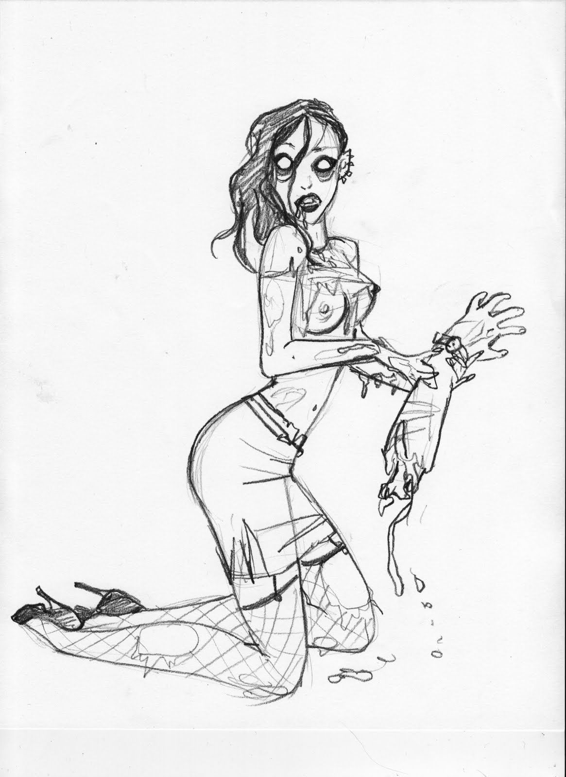 Zombie pin up why not tattoo idea pinterest digital art and