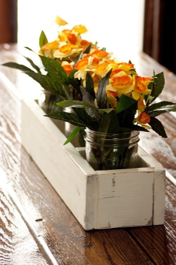 Handcrafted Wooden Table Caddy/Centerpiece Box {Jane Deals}