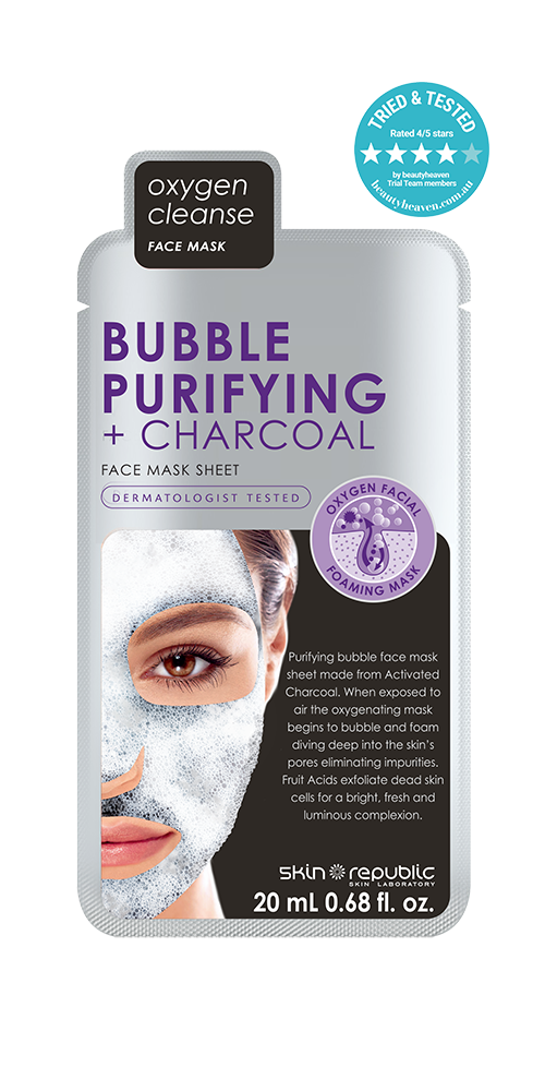Bubble Purifying + Charcoal Face Mask Sheet (With images