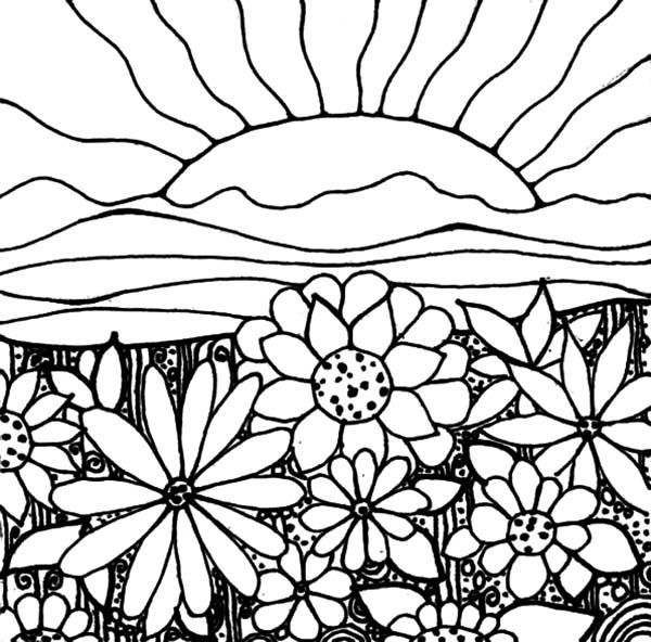 Printable Sunset Coloring Pages | Costello | Pinterest