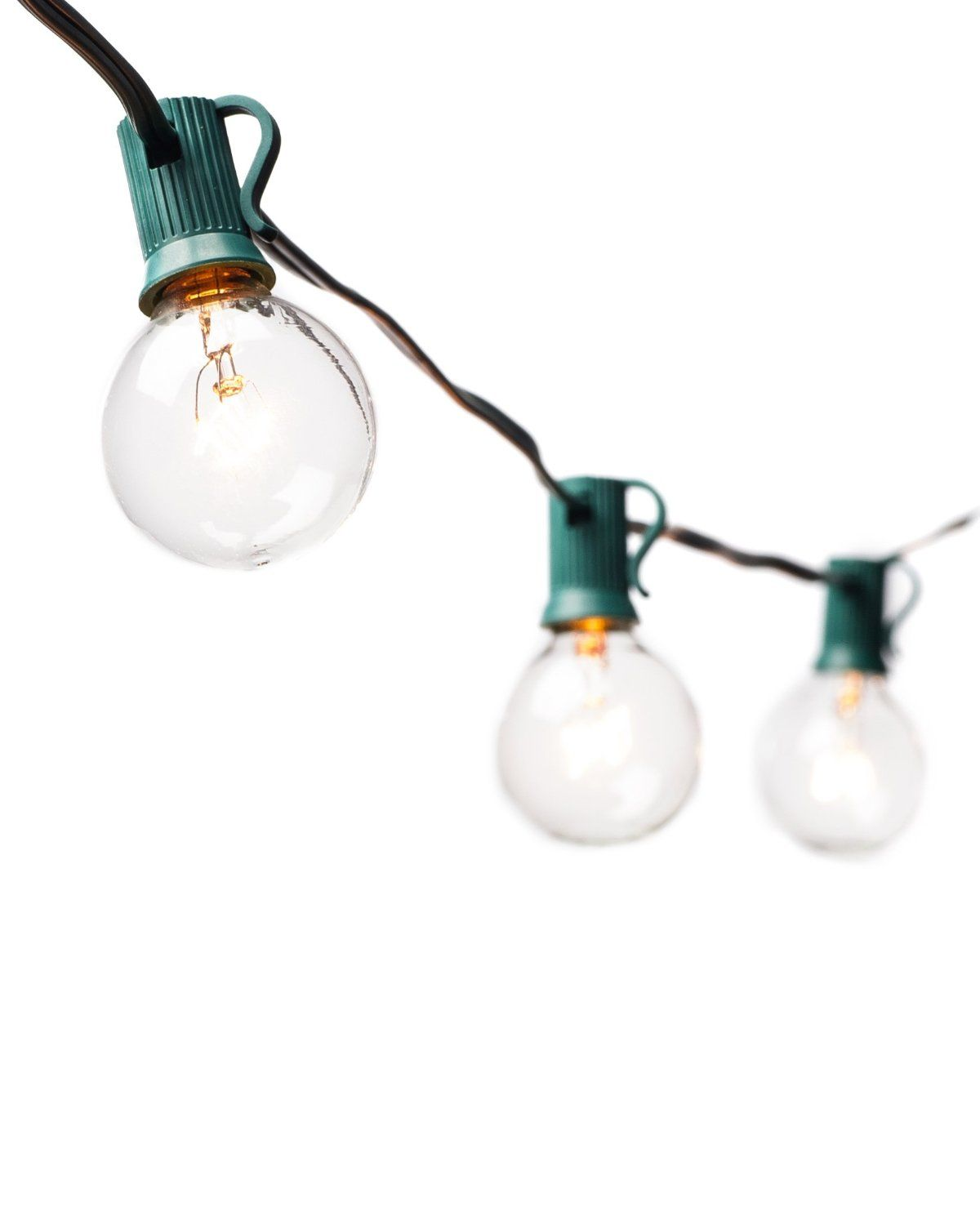 Amazon Com String Lights With 25 G40 Clear Globe Bulbs By