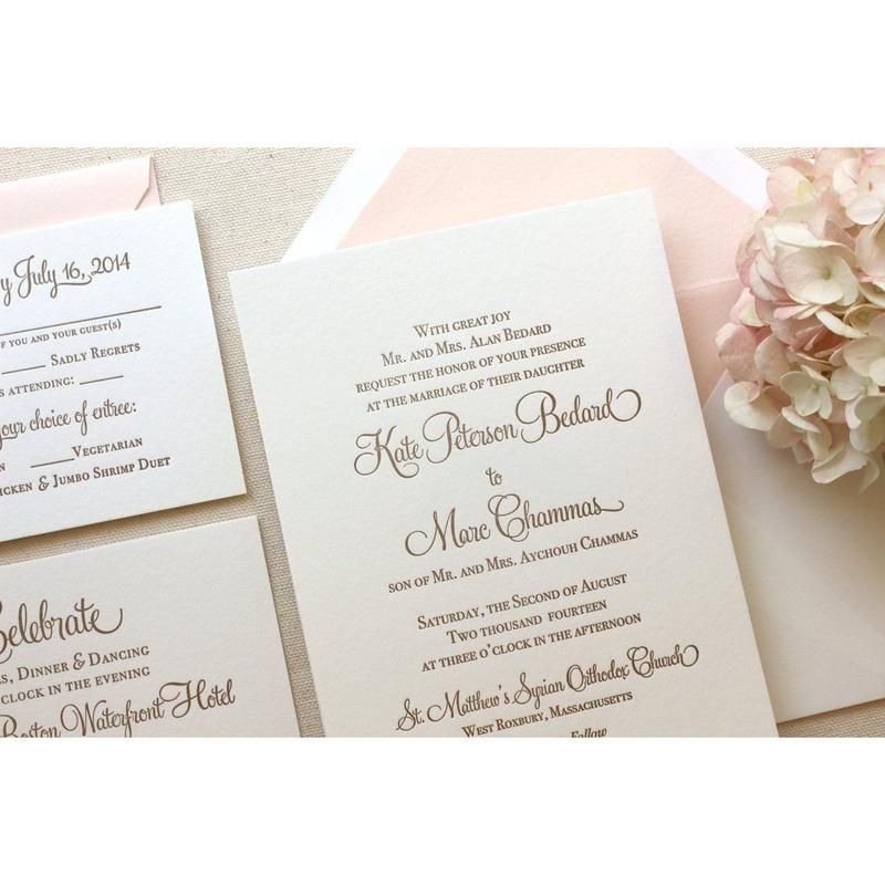 letterpress wedding invitations  letterpress wedding